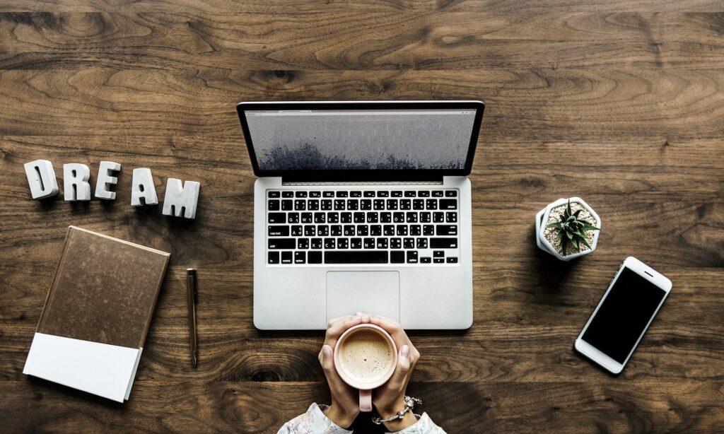 Blog på computeren
